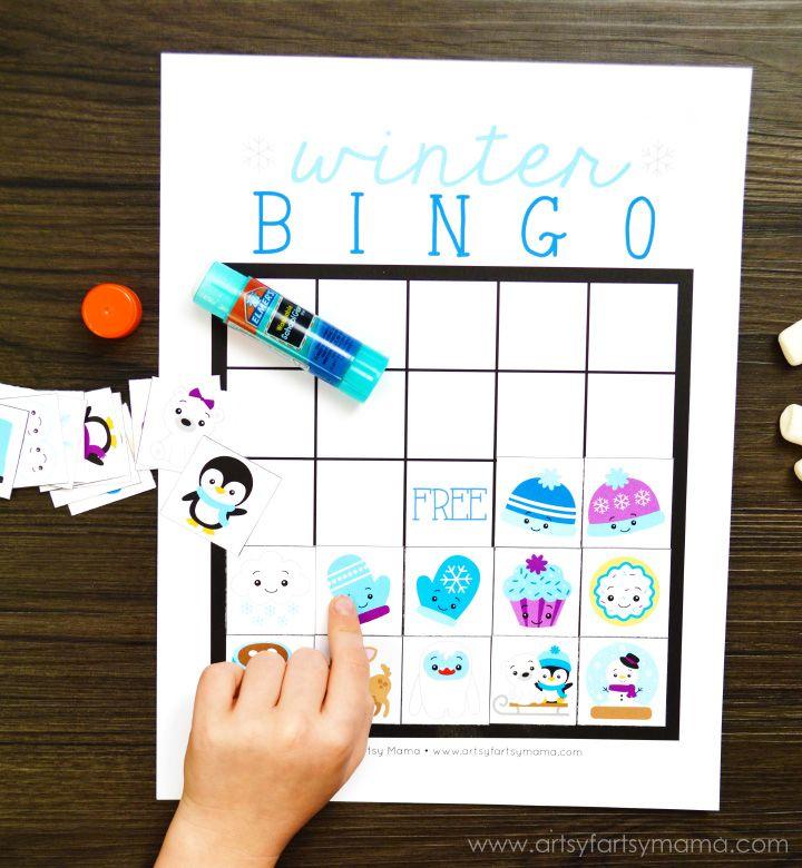 Free Printable Winter Bingo for Kids.