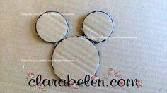 cómo dibujar silueta de cabeza de Mickey Mouse y Minnie Mouse