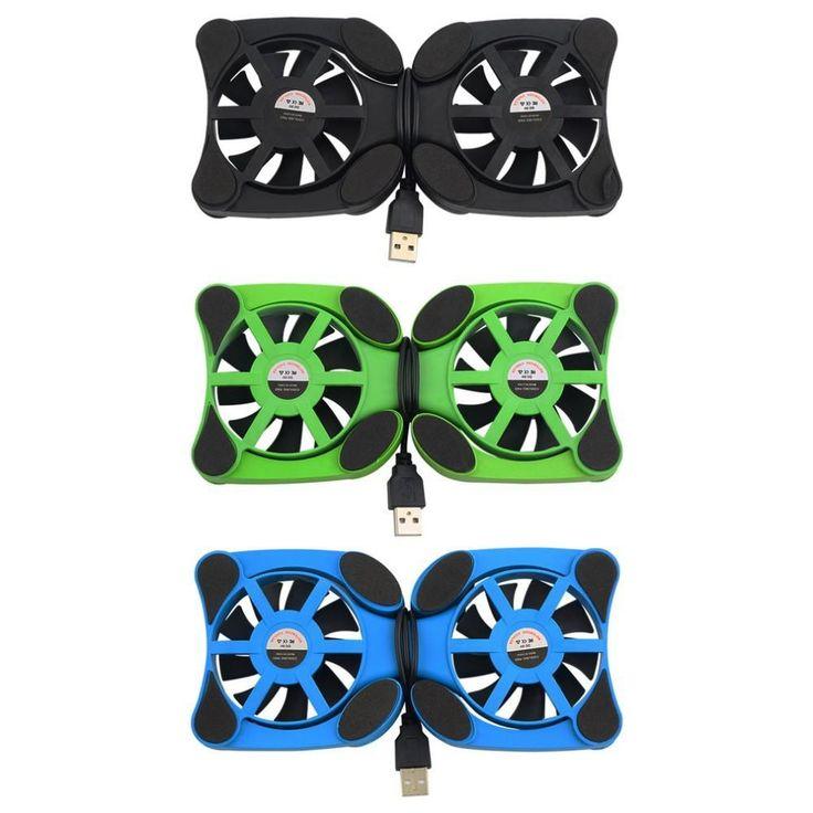 """1pcs laptop cooler Double Fans USB Port Mini Octopus Notebook Fan Cooler Cooling Pad For 7""""-15"""" Laptop Wholesale"""