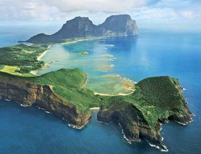 lord howe island, just a two hour flight from sydney, australia.