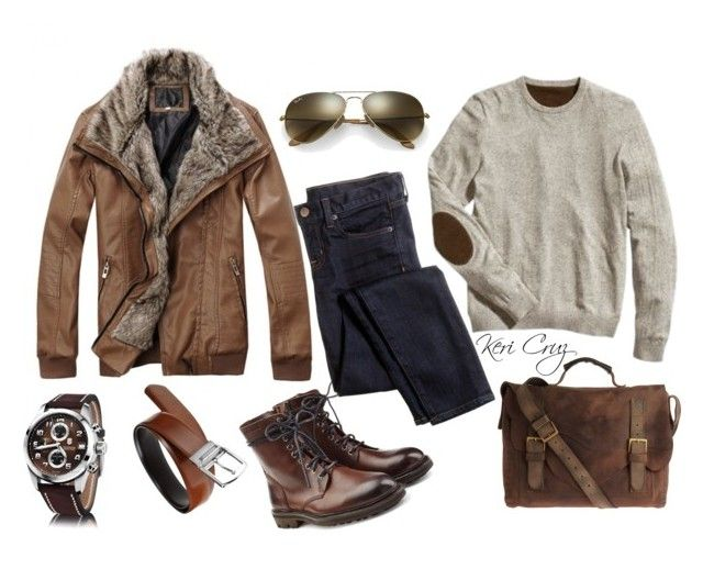 Men's Adventure by keri-cruz on Polyvore featuring Zadig & Voltaire, Ray-Ban, J.Crew, John Varvatos, men's fashion and menswear