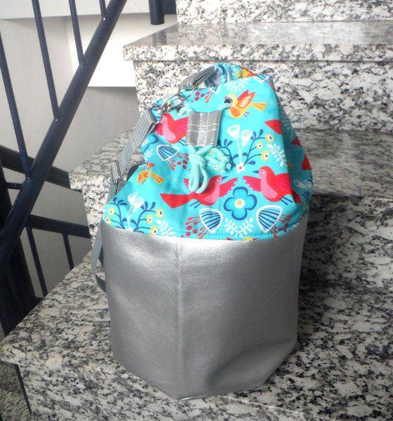 Schultertaschen - Schultertasche Beutel Birds  - ein Designerstück von KiS-Ma bei DaWanda