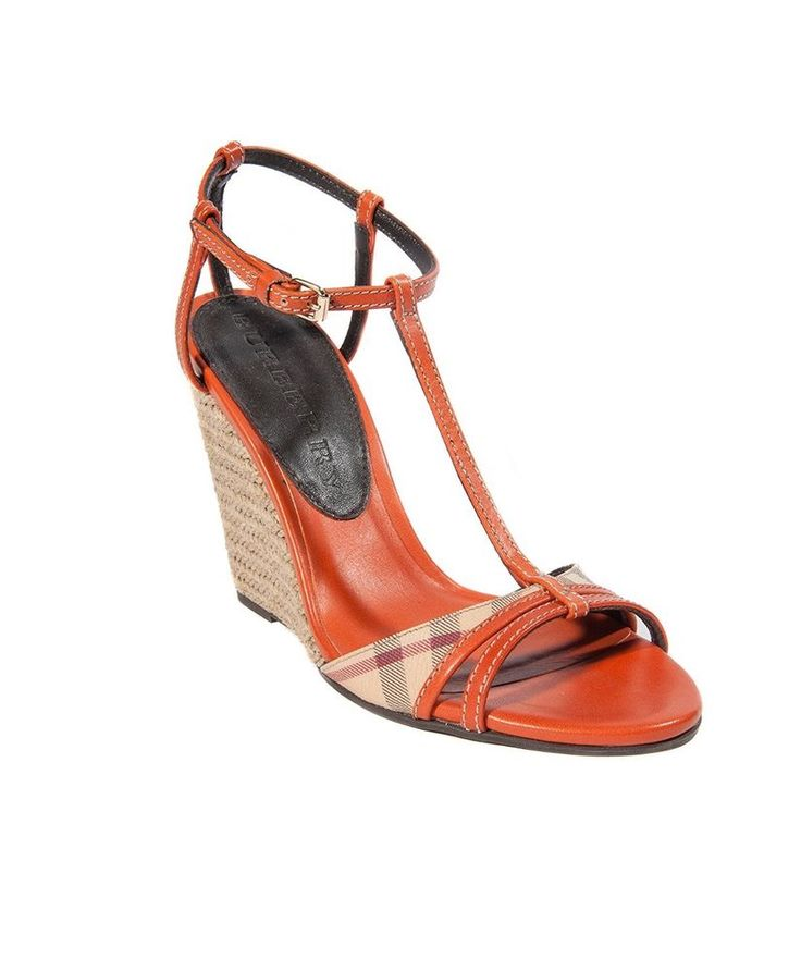 Brand New Burberry Orange Wedge Sandals  | eBay