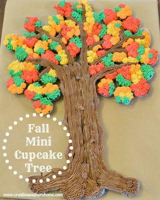 Creative Southern Home: Fall Mini-Cupcake Tree tutorial #Fall #Thanksgiving