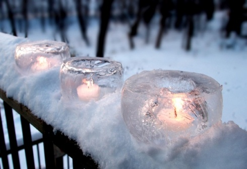How to make ice candles: A few Ice candles can turn your driveway or walkway into a Magical Winter Wonderland!