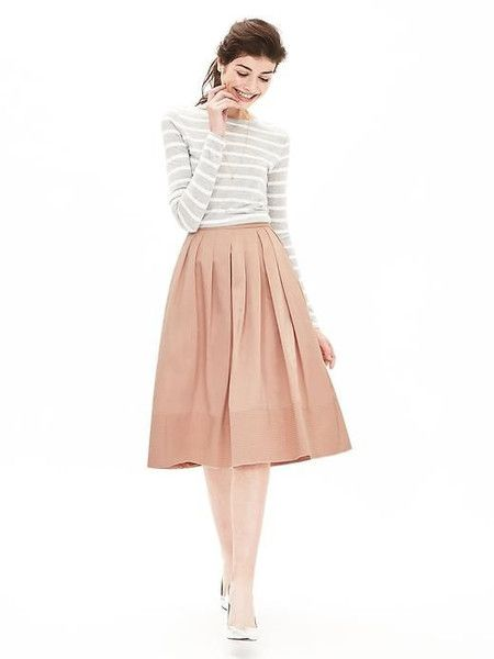 25  best ideas about Blush skirt on Pinterest | Midi skirt outfit ...