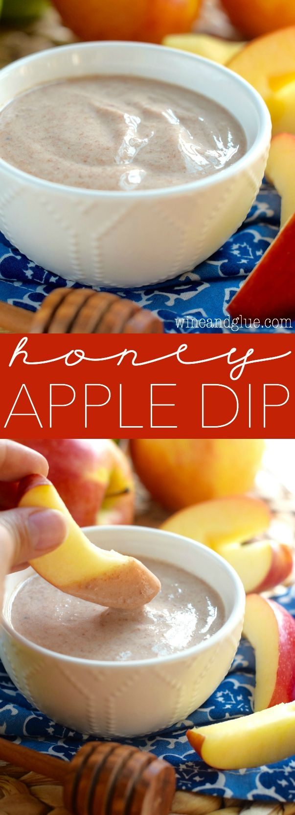 This Honey Apple Dip is so easy to whip up and makes a perfect snack for the kiddos that you can feel great about giving to them!