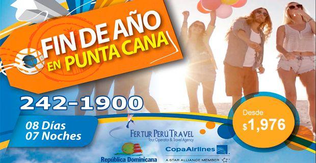 ¿Buscando viajes internacionales de fin de año? Aquí le tenemos este paquete de 8 días 7 noches en Punta Cana, República Dominicana. Los vuelos están confirmados para el 26 de diciembre de 2014 vía Panamá con Copa Airlines. ¡Cotice hoy con Fertur Perú Travel!