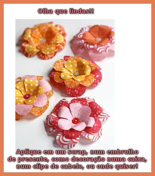 FLORES DE TECIDO COM BOTÃO - FÁCEIS E LINDAS!: Flowers Photography, Flowers Crafts, Fabric Flowers, Flowers Clip, Fabrics Flowers Tutorials, Paper Flowers, Hair Bows, Hair Clip, Girls Headbands