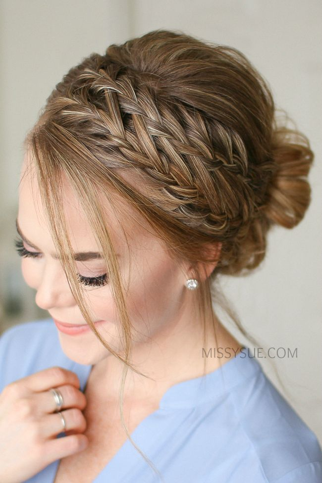 Wasserfall French Braid Low Bun