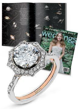 Martha Stewart Weddings Winter 2017 Simon G. Jewelry