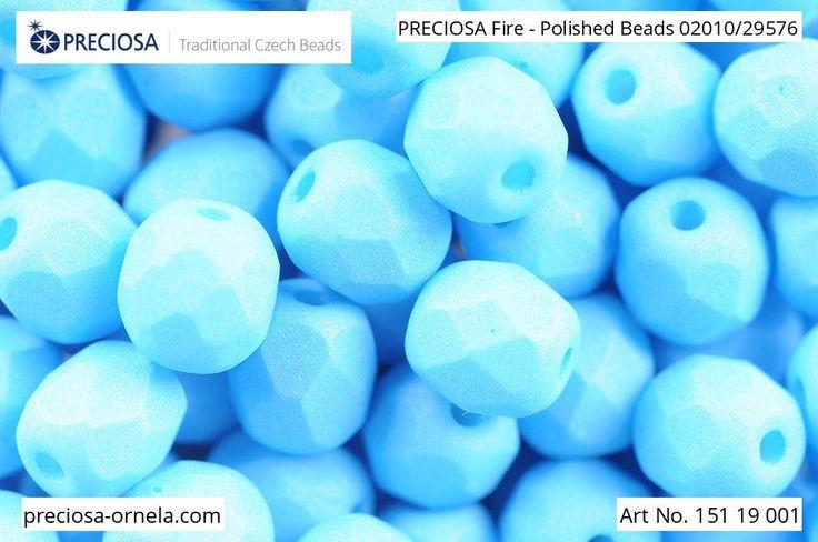 PRECIOSA Fire-Polished Beads - 151 19 001 - 02010/29576 - Azure Blue | by PRECIOSA ORNELA