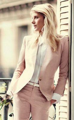 Melanie. pink suit