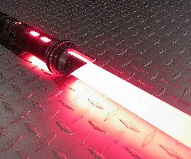 For this week's giveaway we have one sinister red Star Wars lightsaber replica up for grabs! Hand forged from aircraft grade aluminum and featuring a light up removable blade - it's a must have accessory for any cosplaying Dark Jedi.