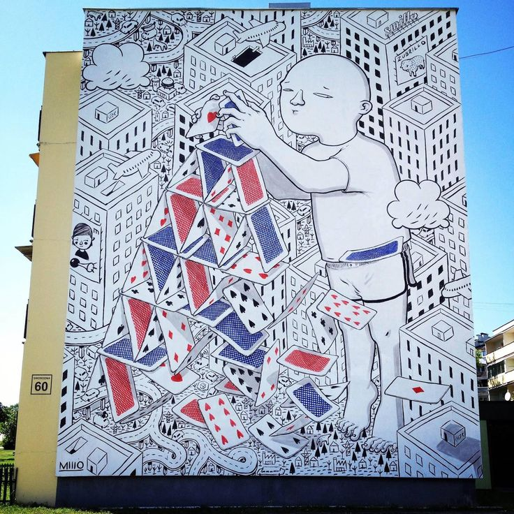 Lovely BIG mural by Millo in Bialystok, Poland