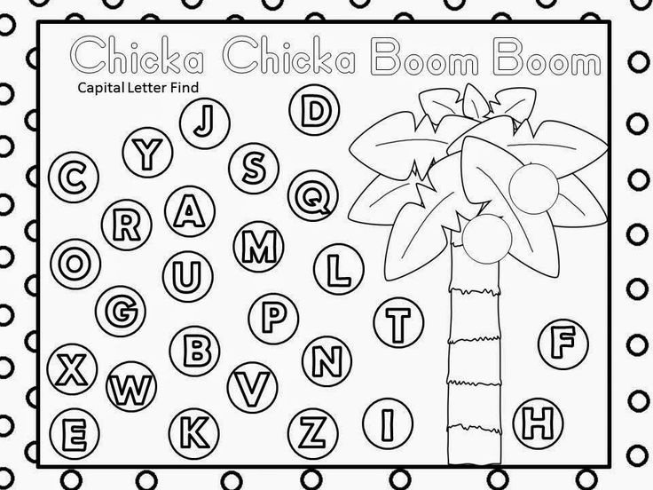 Free - Chicka Chicka Boom Boom Alphabet Find (based on the book by Bill Martin Jr. and John Archambault).  For Educational Purposes Only...Not For Profit. Enjoy! Regina Davis aka Queen Chaos at Fairy Tales And Fiction By 2.