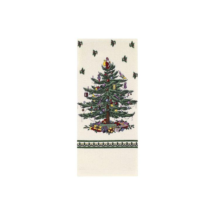 "Ivory Spode Printed Kitchen Towel (18""X28"") - Avanti"