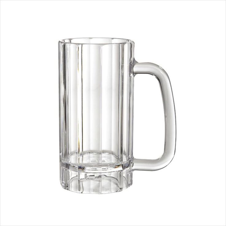 Plastic Reusable 20 Oz 3.5 X 6.25 Mug With Handle Clear Polycarbonate/Case  Of 12