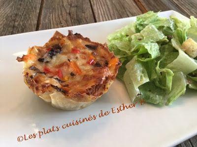 Les plats cuisinés de Esther B: Mini-lasagnes