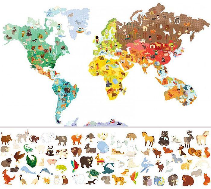 Janod Magneti'stick World Mapa Mundi magnético para o quarto das crianças!  Achei por aqui, não resisti e já comprei para este Natal! ;-) #AdoroMapaMundi #LoucosporMapaMundi