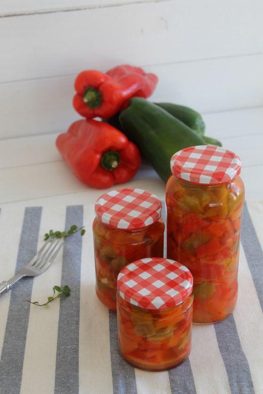Conserva de pimientos para ensaladas                                                                                                                                                                                 Más