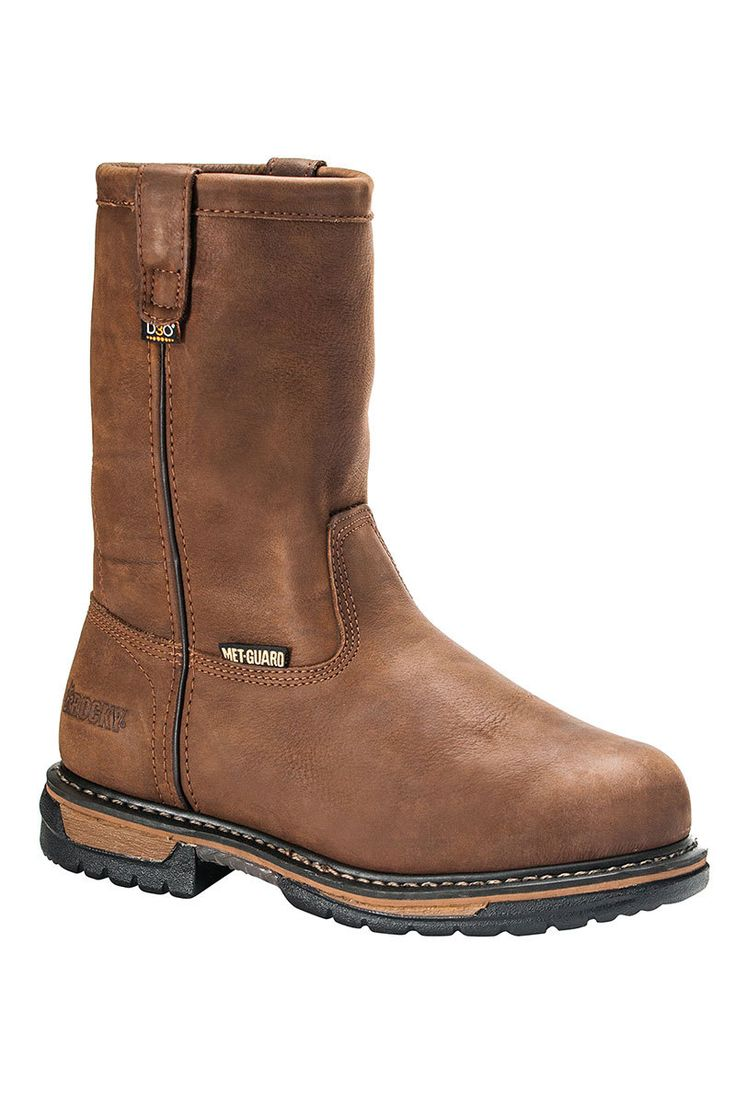 "Rocky 10"" IronClad Internal Metguard Pull-On Men's Work Boots - on sale & ships free!"
