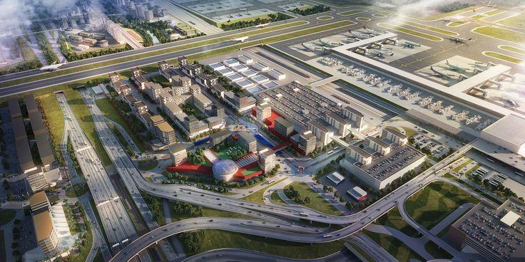 Projeto da De Fournier & Associados . Projeto Aeroporto Viracopos. Imagem da PVID