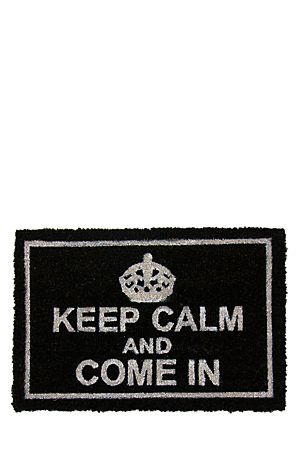 """This printed door mat made from coir has a non-skid PVC backing. The natural, hard wearing coir is perfect for outdoor use.<div class=""""pdpDescContent""""><BR /><b class=""""pdpDesc"""">Dimensions:</b><BR />L60xW40 cm</div>"""