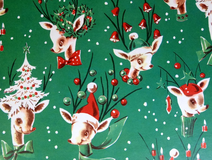 Love this Vintage Reindeer wrapping paper!