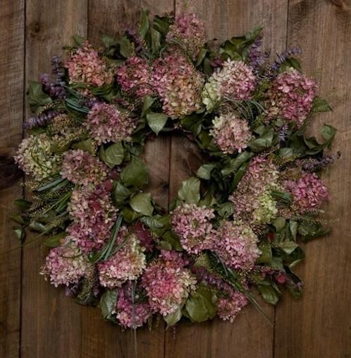 """Signature """"Hand-Crafted"""" Dried Hydrangea Wreath by Floral de Vine... *In stock* $75.00 Order yours today- we ship successfully! www.floraldevine.com"""