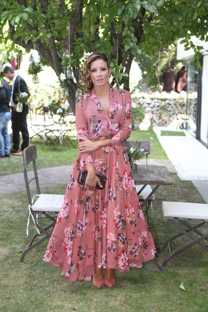 Virginia Troconis con vestido de Panambi