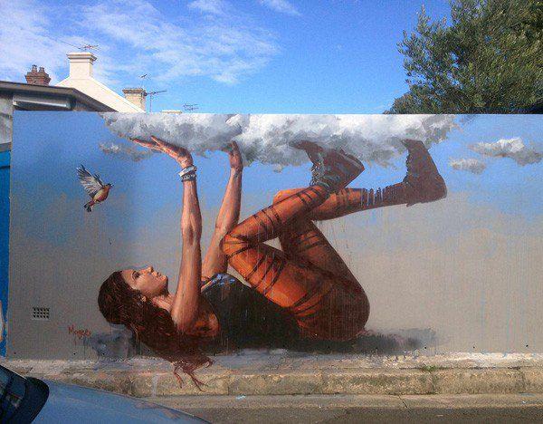 Increíble arte en mural creado por Fintan Magee