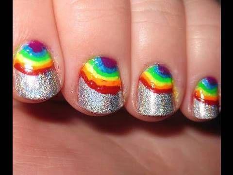 Rainbow Nail Design! Too cute <3