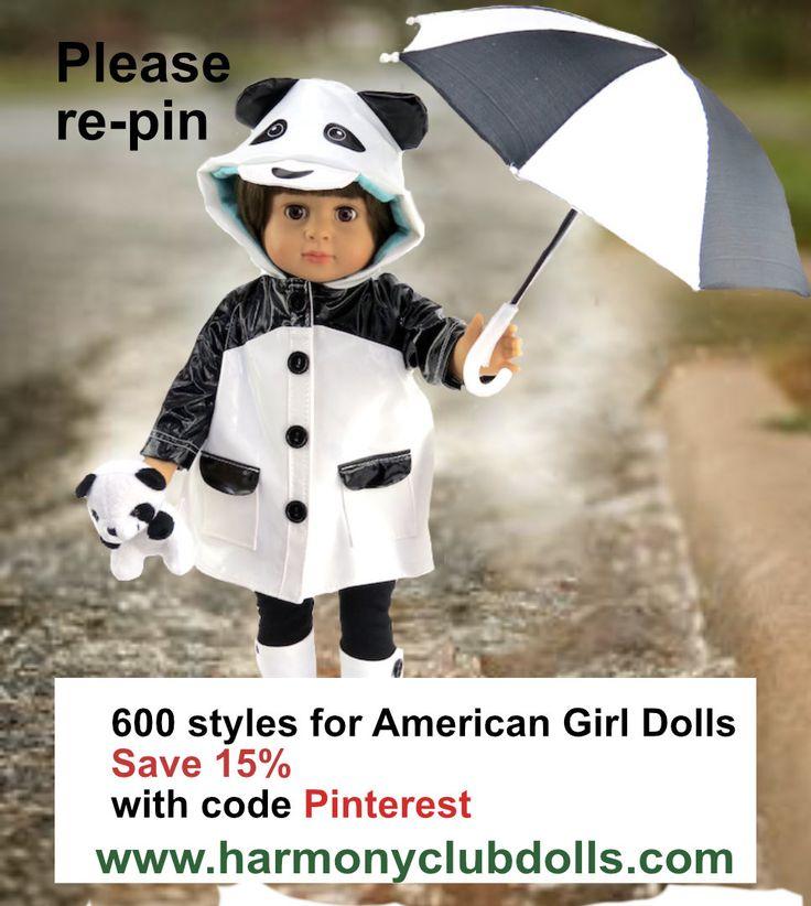 www.harmonyclubdolls.com #americangirldolls fits American Girl Dolls