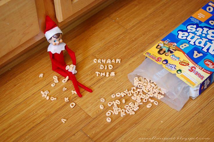 Elf on the shelf - too cute