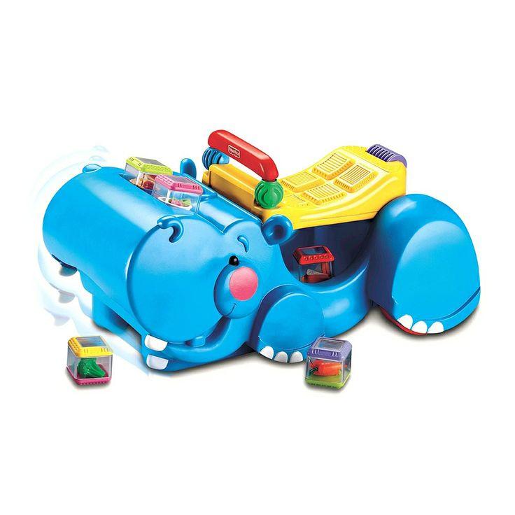Fisher-Price - Peek-a-Blocks - Gobble & Go Hippo