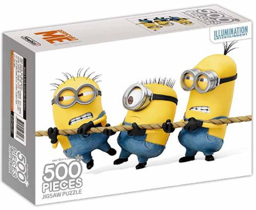 Despicable Me Minions Characters 500 pieces Toy Jigsaw Puzzles Tug of War #DespicableMe