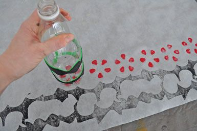 This link has a few great printing projects with kids from recycled or found objects and other inexpensive supplies! Fun!