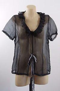 Size M 12 Boo Radley Ladies Black Top Cocktail Wedding Gothic Elegant Design  | eBay