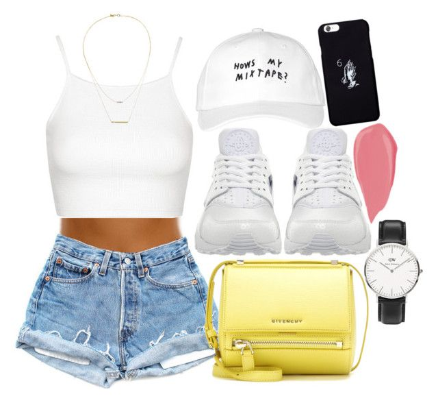"""""""OVO Fest : October's Very Own , Nike and Givenchy"""" by camrzkn ❤ liked on Polyvore featuring Daniel Wellington, NIKE, October's Very Own, Givenchy, Topshop and Kacey K Fine Jewelry"""