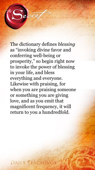 Give blessings and praise