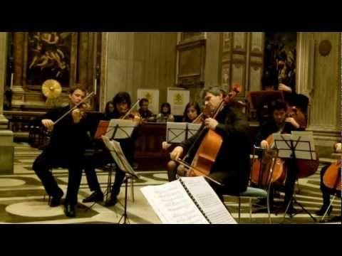 Live recording of Pau Casals, El cant dels ocells, featuring Valeriano Taddeo cello and Archi di Roma orchestra.  Recorded live in San Giovanni dei Fiorentini, in 2012.