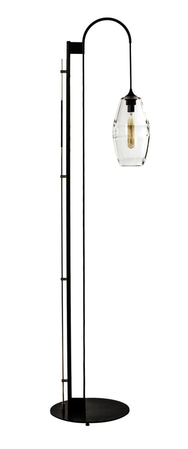 Clear band floor lamp