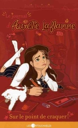 Sur le point de craquer!, India Desjardins. J'aime toutes les illustrations de couverture de cette série. Les versions françaises sont pas mal aussi.