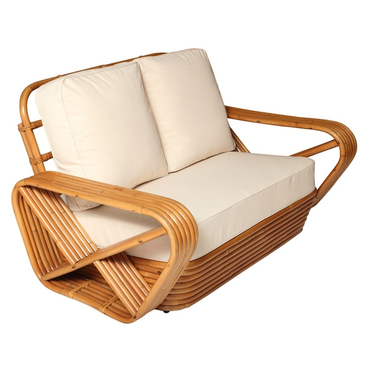 Rattan Loveseat In The Manner Paul Frankl Very Cool