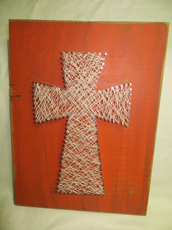 large string art cross crafts diy 39 s your own touch pinterest string art crosses and art. Black Bedroom Furniture Sets. Home Design Ideas