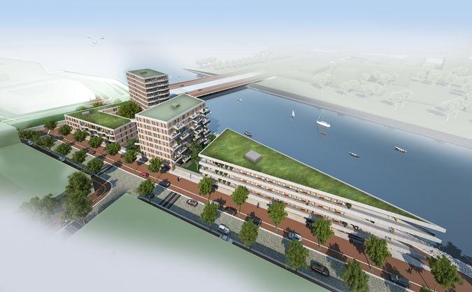 3D aanzicht IJburg blok 54