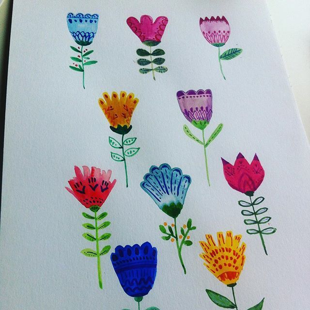 For a new pattern  #gatosyrinocerontes #watercolor #flowers #surfacedesign #pattern