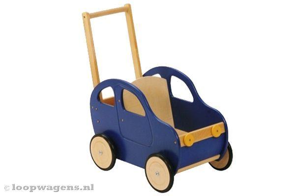 Woodtoys Azzurro Italia   Loopwagens.nl