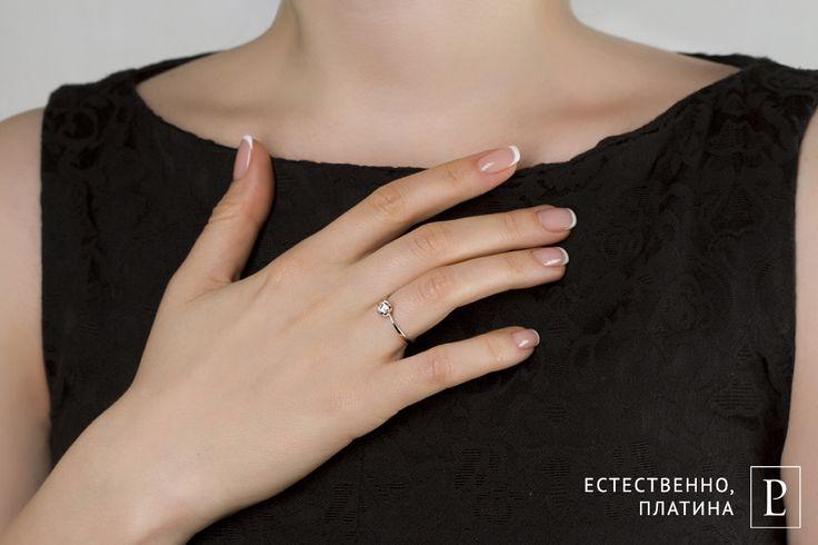 Помолвочное кольцо из платины с бриллиантом - самое желанное украшение для каждой девушки.  #ring #brilliant #помолвочноекольцо #кольцо #jewelry #platinum #PlatinumLab #rings #jewellery #diamond #cute #kostroma #engagementring #wedding #forher